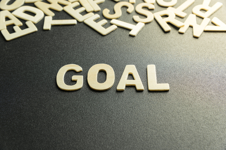 GOAL word made with wooden letter Stock Photo
