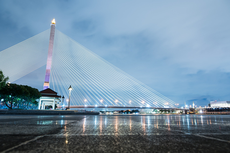 The Rama VIII Bridge is a cable-stayed bridge crossing the Chao Phraya River in Bangkok, Thailand.The bridge was opened on 7 May 2002 and inaugurated on 20 September, which is the birth anniversary of the late King Ananda Mahidol (Rama VIII)