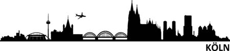 Cologne Cologne city skyline silhouette vector
