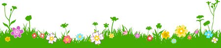 Meadow Grass Nature Silhouette Background Vector Vector Illustration