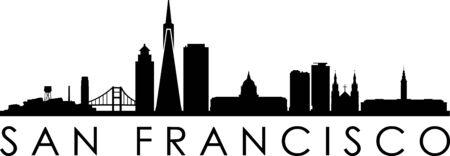 SAN FRANCISCO City Skyline Silhouette Cityscape Vector