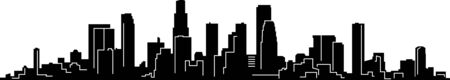 Los Angeles skyline silhouette cityscape vector