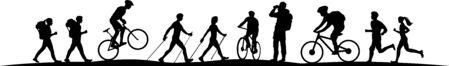 Sport im Freien Natur Silhouette Vektor Vektorgrafik
