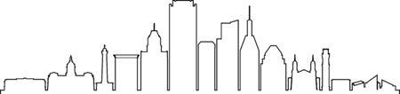 BALTIMORE MARYLAND City Skyline Silhouette Cityscape Vector Ilustração