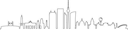 BERLIN City GERMANY Skyline Silhouette Cityscape Vector