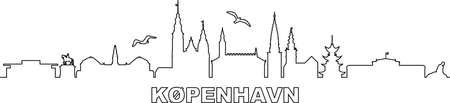 COPENHAGEN City DENMARK Skyline Silhouette Cityscape Vector Vektorgrafik