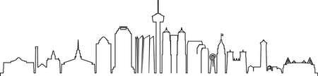 SAN ANTONIO City Texas Skyline Silhouette Cityscape Vector