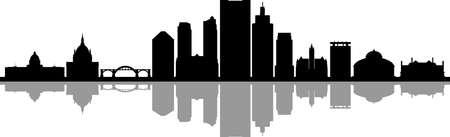 SAINT PAUL City Minnesota Skyline Silhouette Cityscape Vector