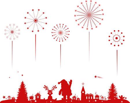 CHRISTMAS VECTOR motif card vector