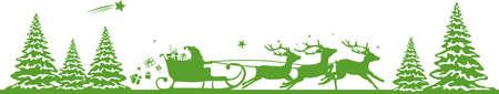 CHRISTMAS deers sleigh santa claus vector