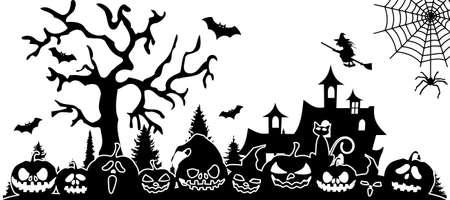 HALLOWEEN pumpkin holiday silhouette vector