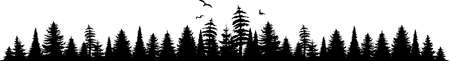 FOREST black silhouette background vector