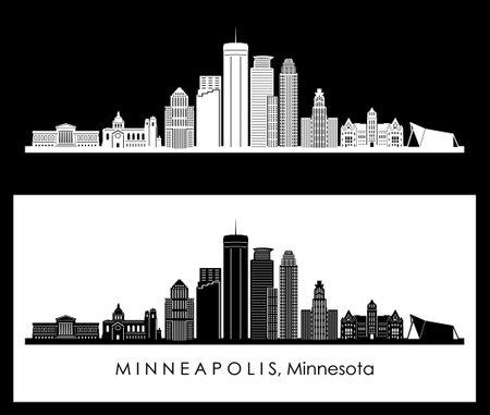 MINNEAPOLIS Minnesota SKYLINE City Silhouette