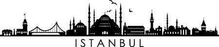 ISTANBUL TURKEY SKYLINE City Silhouette