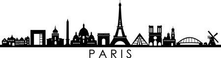 PARIS FRANCE SKYLINE City silhouette Ilustração