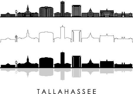 TALLAHASSEE FLORIDA SKYLINE City Silhouette