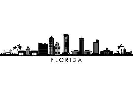 FLORIDA STATE SKYLINE City silhouette Ilustração