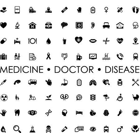 ICON SET medicine doctor disease Ilustração