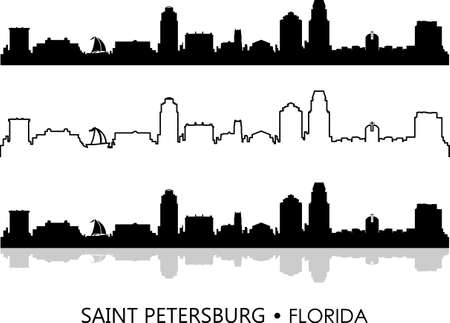 SAINT PETERSBURG FLORIDA SKYLINE city silhouette