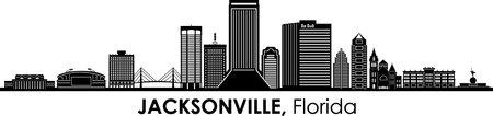 JACKSONVILLE Florida USA City Skyline Vector