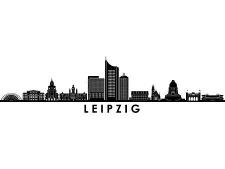 LEIPZIG Saxonia Germany City Skyline Vector