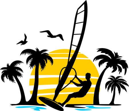 Surf surfing sea wave vector