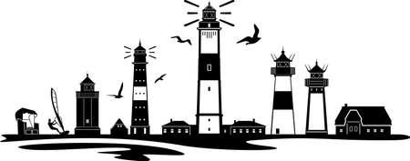SYLT north sea island City Skyline Vector