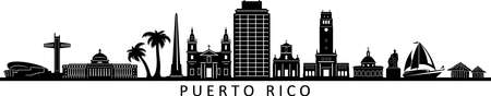 PUERTO RICO San Juan Usa City Skyline Vector