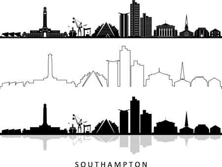 SOUTHAMPTON England, UK SKYLINE City Silhouette