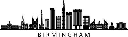 BIRMINGHAM England, UK SKYLINE City Silhouette