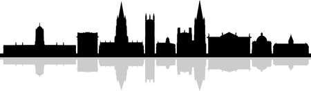 OXFORD England SKYLINE City Silhouette