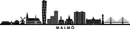 MALMÖ Sweden City Skyline Vector