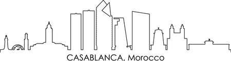 CASABLANCA Morocco Africa City Skyline Vector Illustration