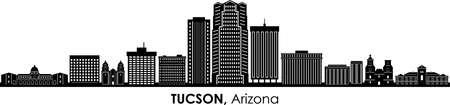 TUCSON Arizona USA City Skyline Vector