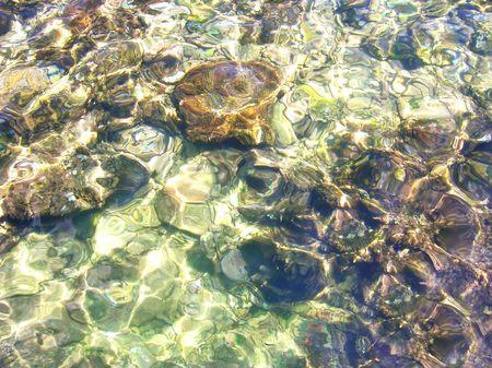 seawater: transparent sunny seawater
