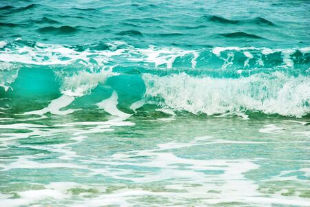 blue wave formation with foam in adriatic sea Stock Photo - 3810519