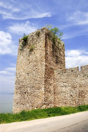 fortifying: Tower of ancient stone fortification in national park Djerdap, Serbia
