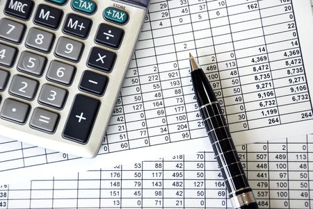 calculations Stock Photo