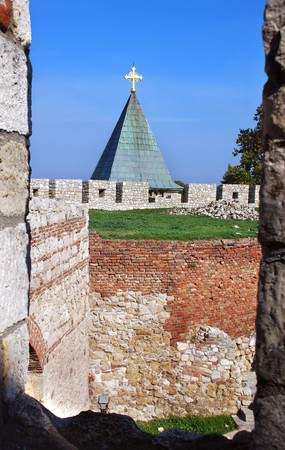 fragments: Church at ancient fortress Kalemegdan in Belgrade, Serbia