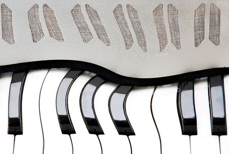 curve keyboard of accordion abstract artistic background photo