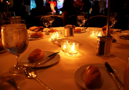 gala dinner in restaurant