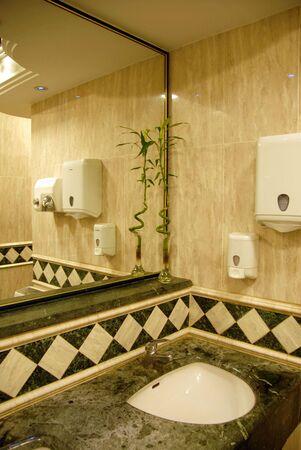 greenish: bathroom luxury interior with greenish and cream marble design