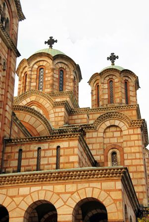 Fragment of Saint Marco cathedral in Belgrade photo