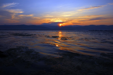 beautiful sunrise over Danube in Serbia, from riverbank Stock Photo - 10185758