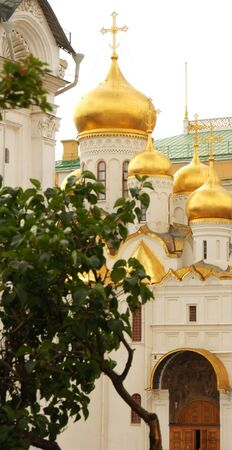 moskva: fragment of Cathedral of the Annunciation in Moscow Kremlin Stock Photo