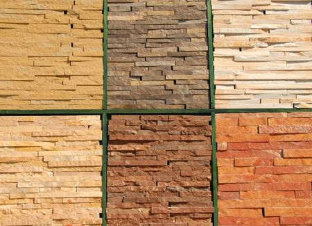stone construction materials textures for wall and facade design Stock Photo - 10621450