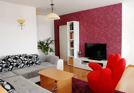 modern interior of living room photo