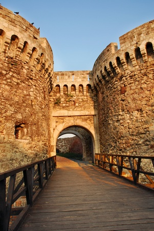 ancients: architecture details of Kalemegdan fortress in Belgrade, Zindan gate