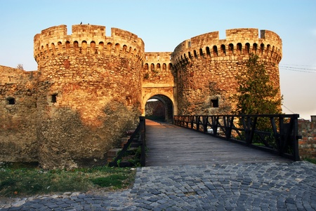balkan: Belgrade fortress gate Stock Photo
