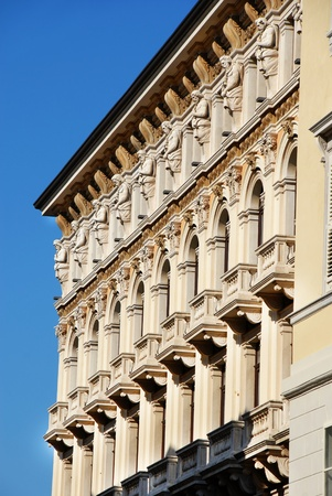 Architectural details of building in Trieste, Italy, on Piazza Unit Stock Photo - 11161990
